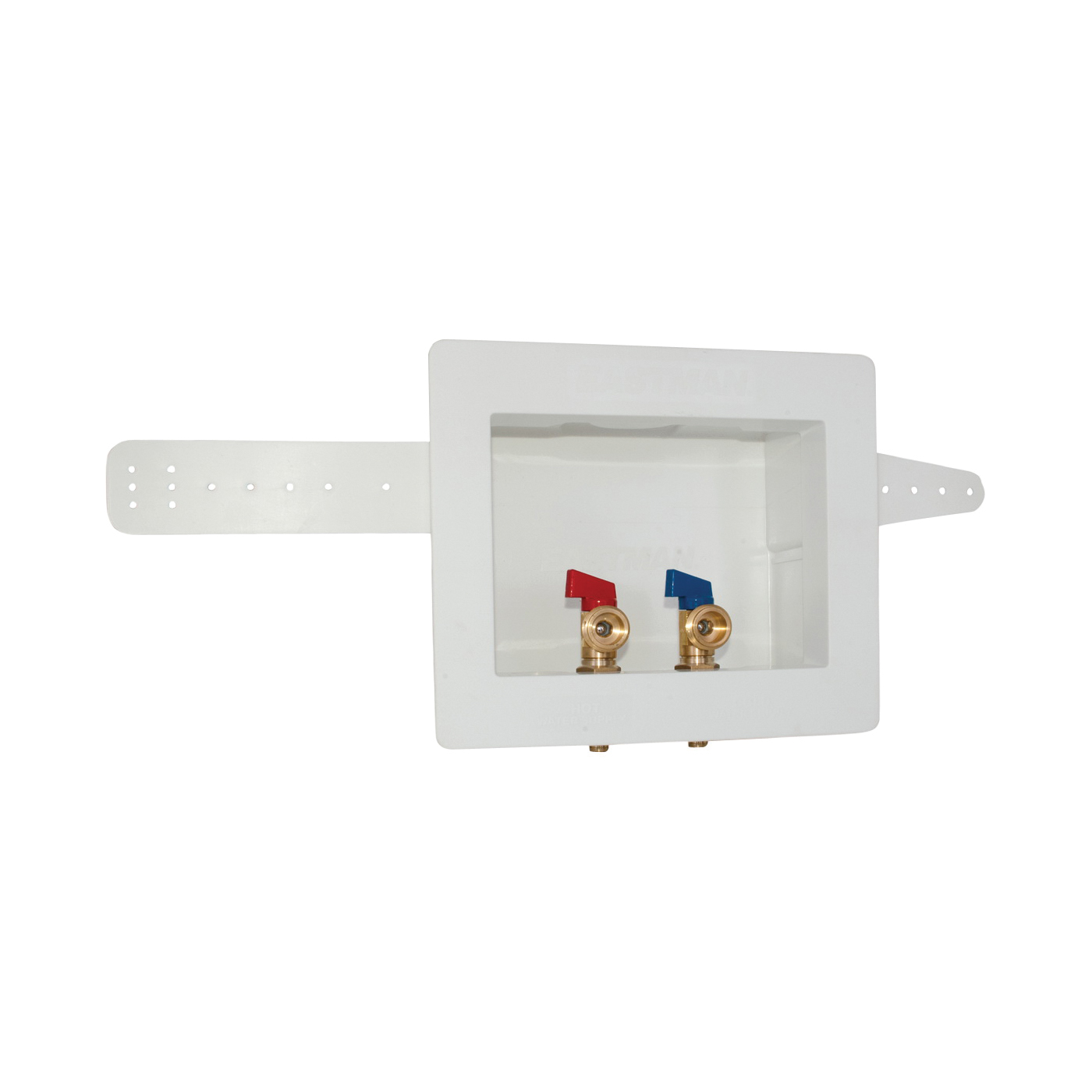 Picture of EASTMAN 60245 Washing Machine Outlet Box, 1/2, 3/4 in Connection, Brass