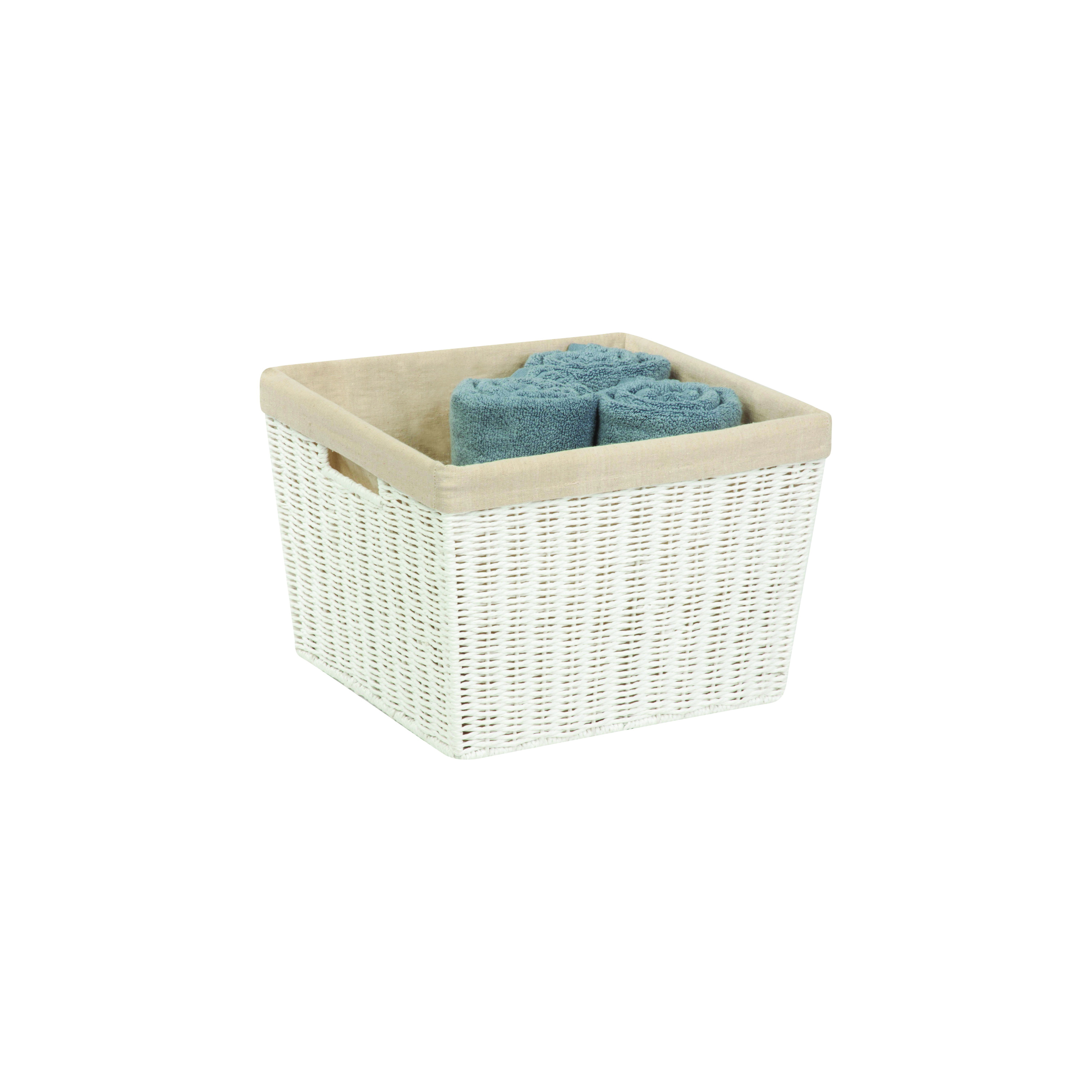 Picture of Honey-Can-Do STO-03561 Storage Basket, Paper, White