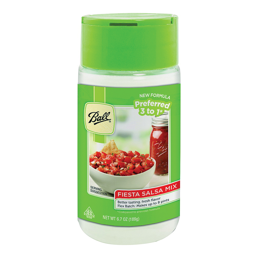 Picture of Ball 72105 Fiesta Salsa Mix, Tomato Flavor, 6.7 oz Package, Bottle