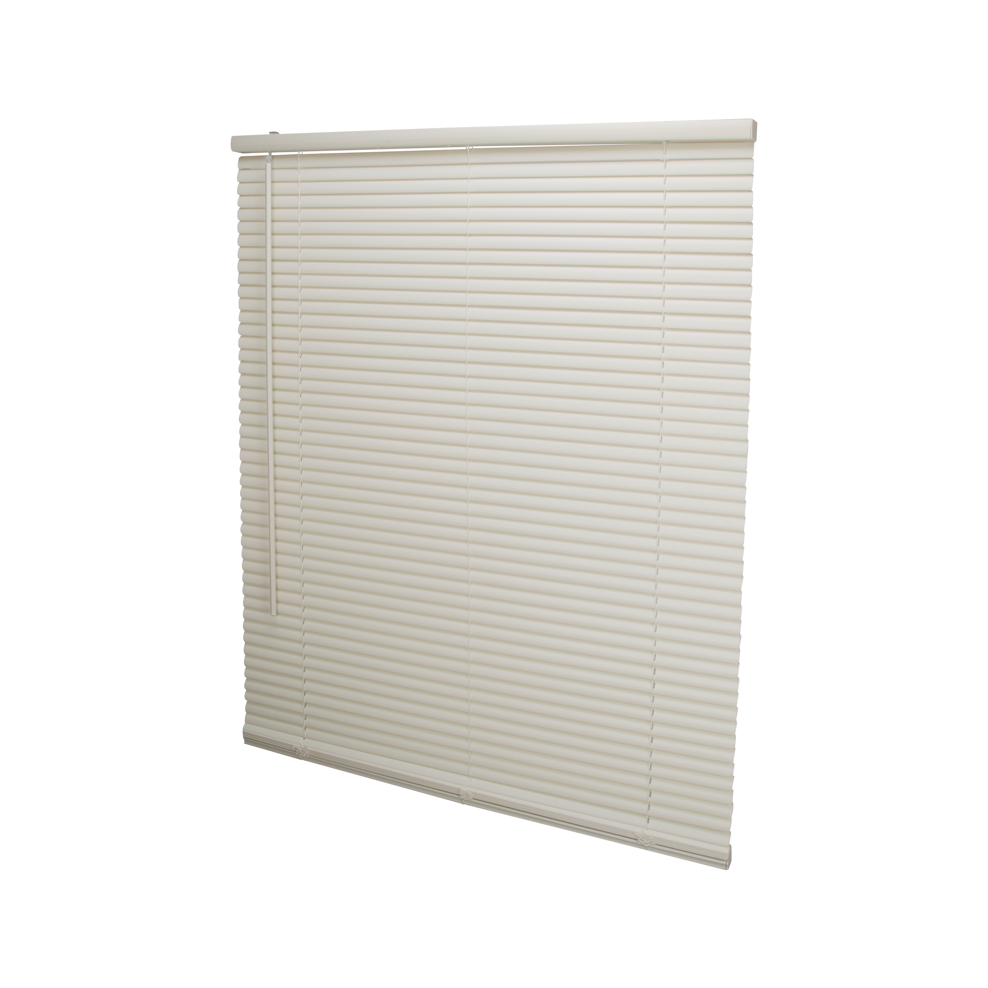 Picture of Simple Spaces PVCMB-12AA Cordless Mini Blind, 64 in L, 39 in W, Vinyl, Alabaster