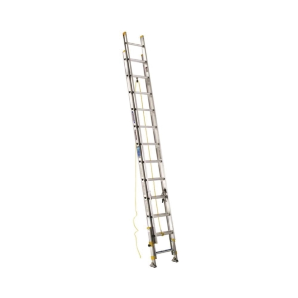 Picture of WERNER D1824-2EQ Extension Ladder, 23 ft H Reach, 250 lb, Aluminum