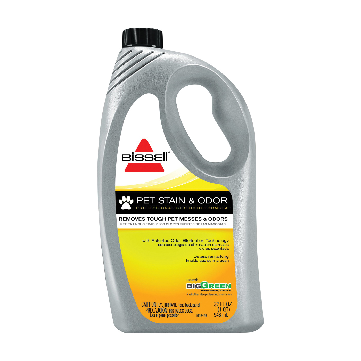 Picture of BISSELL 72U8 Carpet Cleaner, 32 oz Package, Bottle, Liquid, Characteristic, Pale Yellow