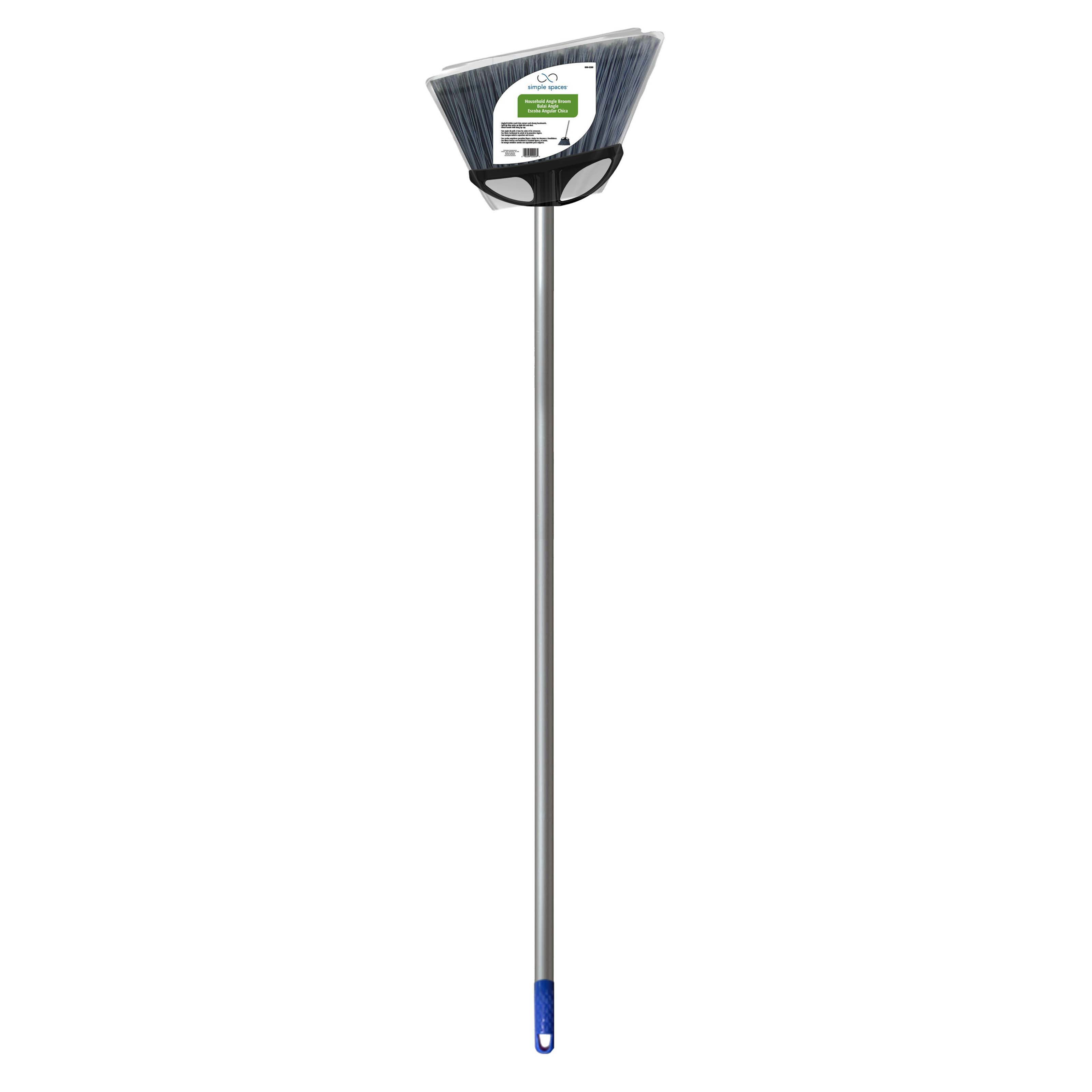 Picture of Simple Spaces 2026 Angle Broom, 6 in Sweep Face, Synthetic Fabric Bristle, Metal Handle