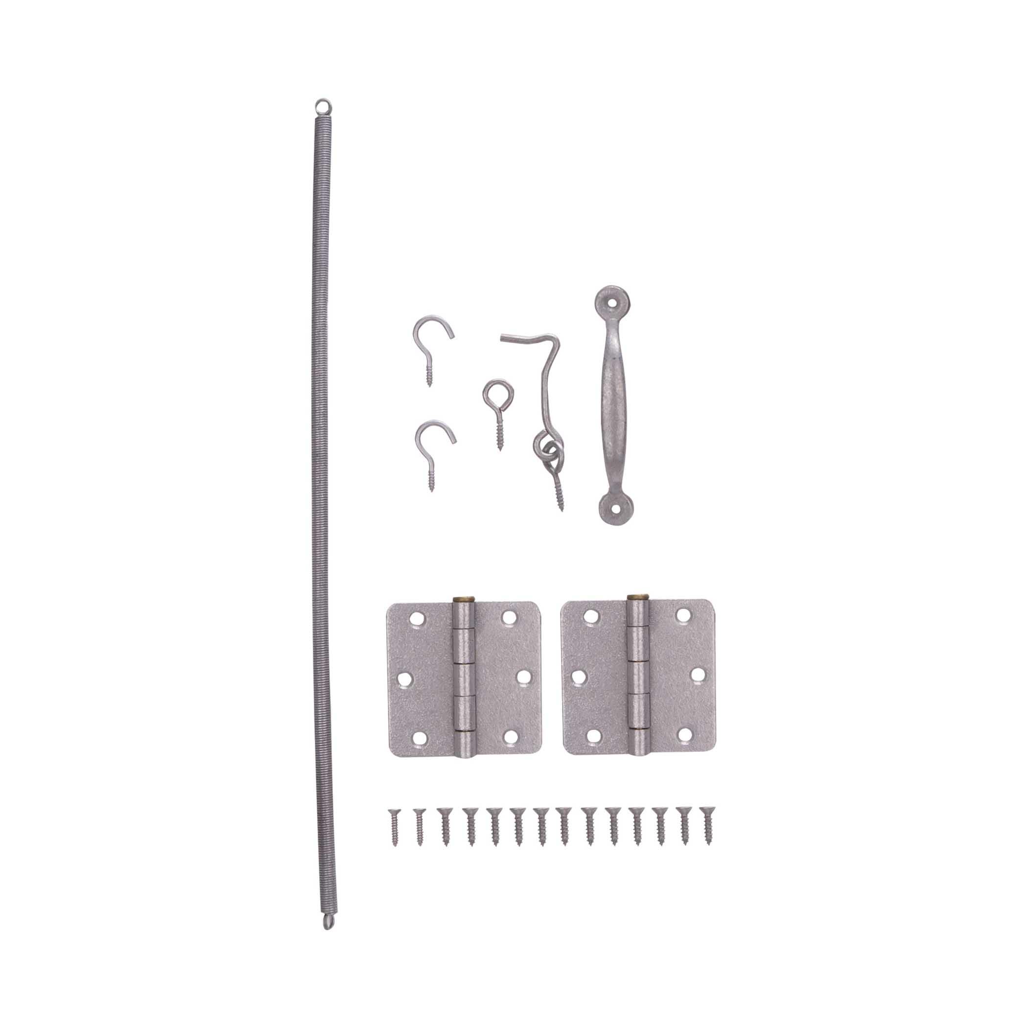 Picture of ProSource LR-115-PS Screen Door Hinge Set, Galvanized Steel, For: Wood Screen Doors