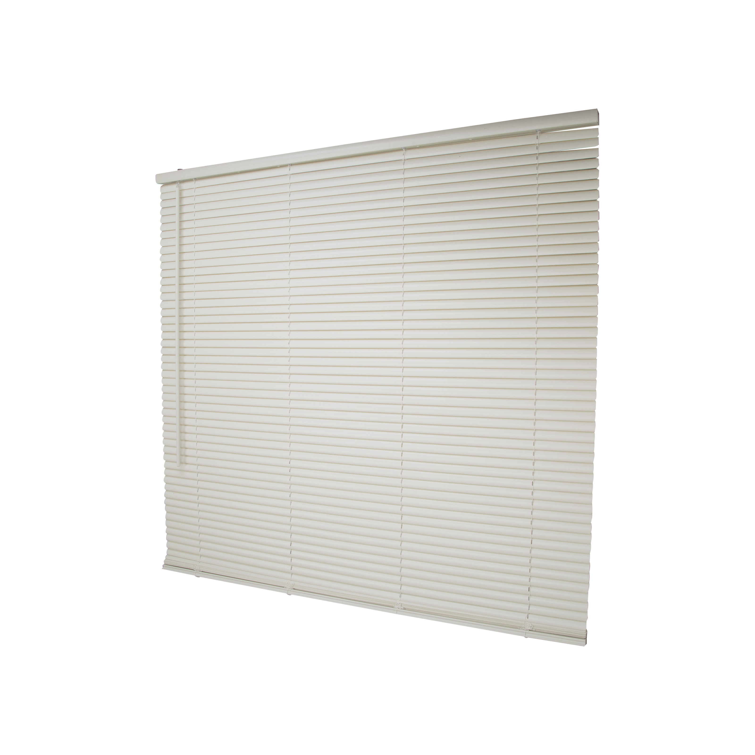 Picture of Simple Spaces PVCMB-13AA Cordless Mini Blind, 64 in L, 43 in W, Vinyl, Alabaster