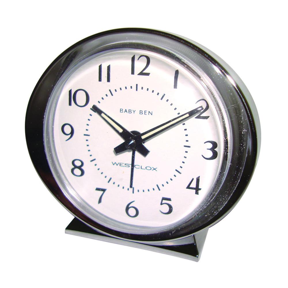 Picture of Baby Ben 11611QA Alarm Clock, Plastic Case, Silver Case