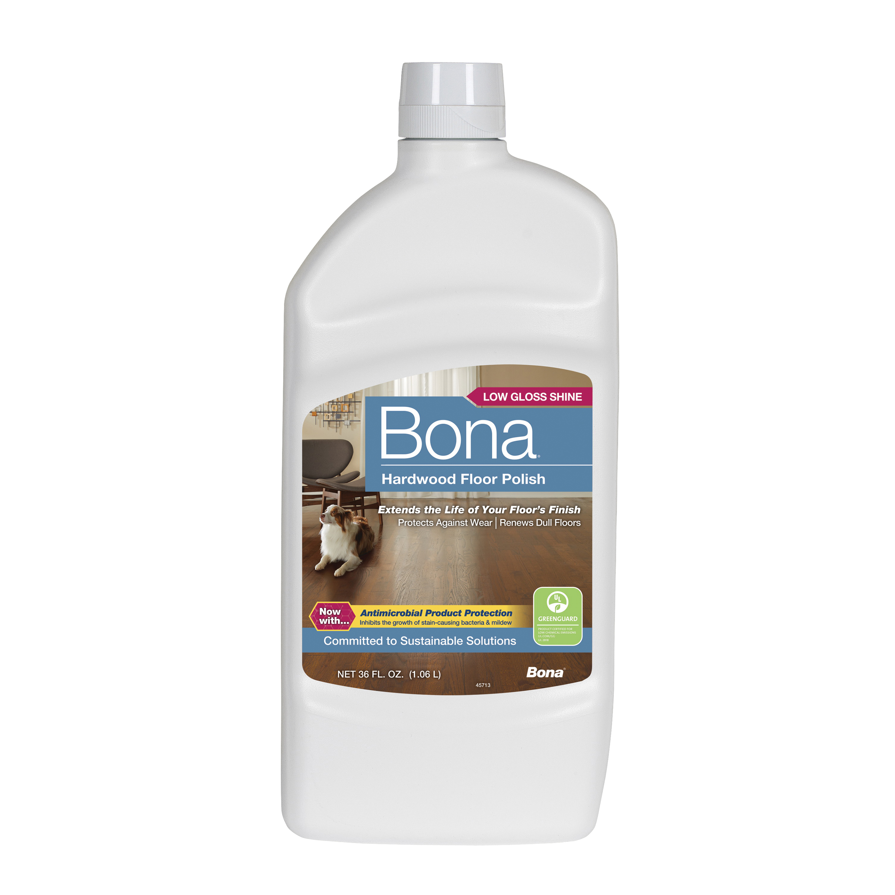 Picture of Bona WP500359001 Floor Polish, 36 oz Package, Liquid, Slight Sweet, White
