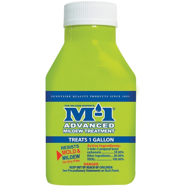 Picture of M-1 AM1.5B Advanced Mildew Treatment, 1.5 oz Package, Bottle, Liquid, Yellow