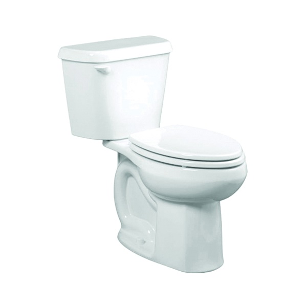 Picture of American Standard Colony 751AA001.020 Complete Toilet, Elongated Bowl, 1.6 gpf Flush, 12 in Rough-In, Vitreous China