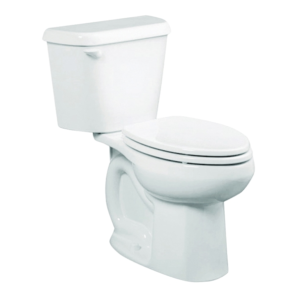 Picture of American Standard Colony 751AA101.020 Complete Toilet, Round Bowl, 1.28 gpf Flush, 12 in Rough-In, 16-1/2 in H Rim