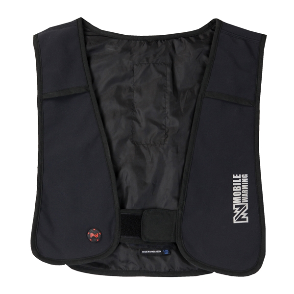 Picture of Mobile Warming MW19U05-01-10 Heated Vest, S/M, Unisex, Fits to Chest Size: 40 in, Black, Hook-and-Loop Closure