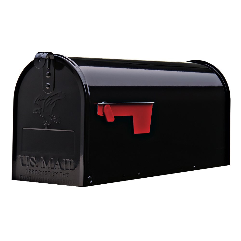 Picture of Gibraltar Mailboxes Elite E1100B00 #1Mailbox, 800 cu-in Capacity, Galvanized Steel, Powder-Coated, 6.9 in W, Black