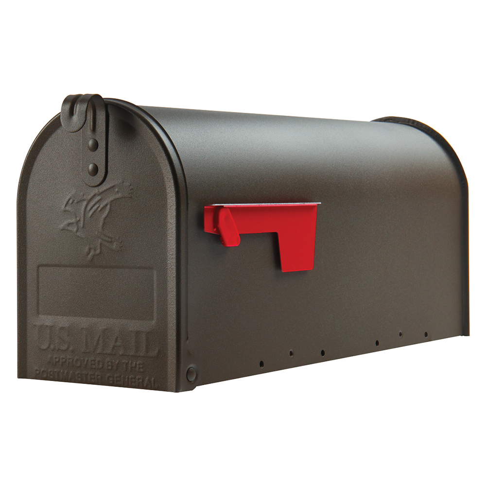 Picture of Gibraltar Mailboxes Elite E1100BZ0 Mailbox, 800 cu-in Capacity, Galvanized Steel, Bronze, 6.9 in W, 20.1 in D