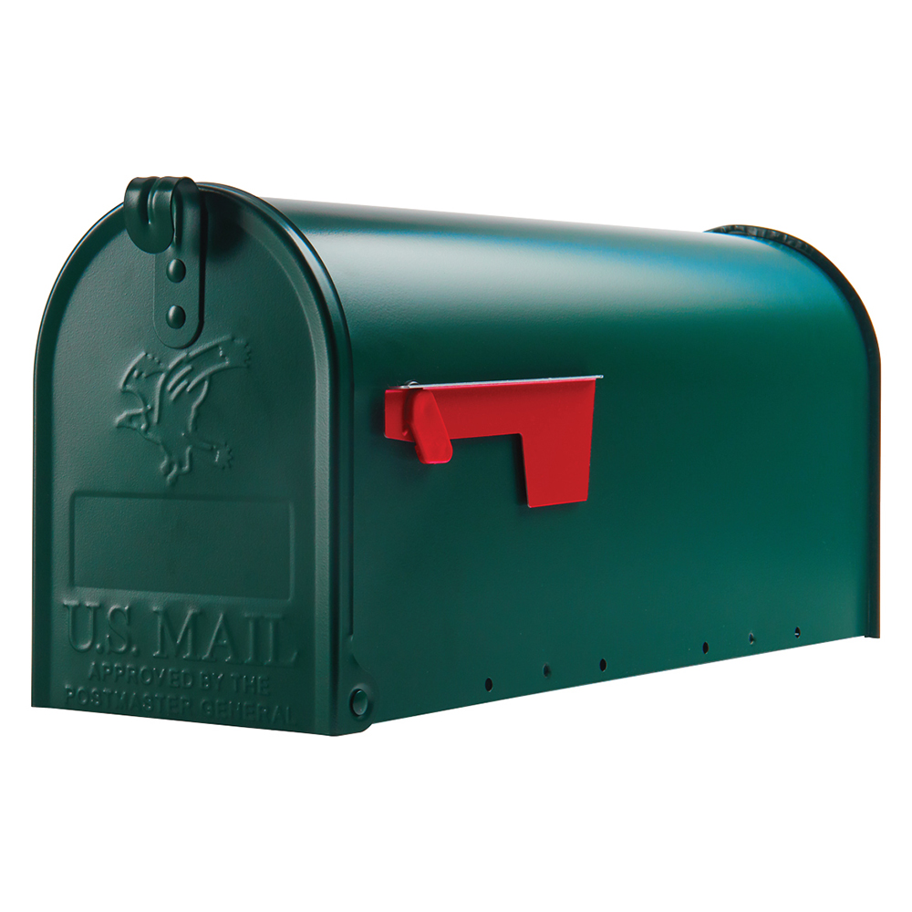 Picture of Gibraltar Mailboxes Elite E1100G00 Mailbox, 800 cu-in Capacity, Galvanized Steel, Powder-Coated, 6.9 in W, 8.9 in H