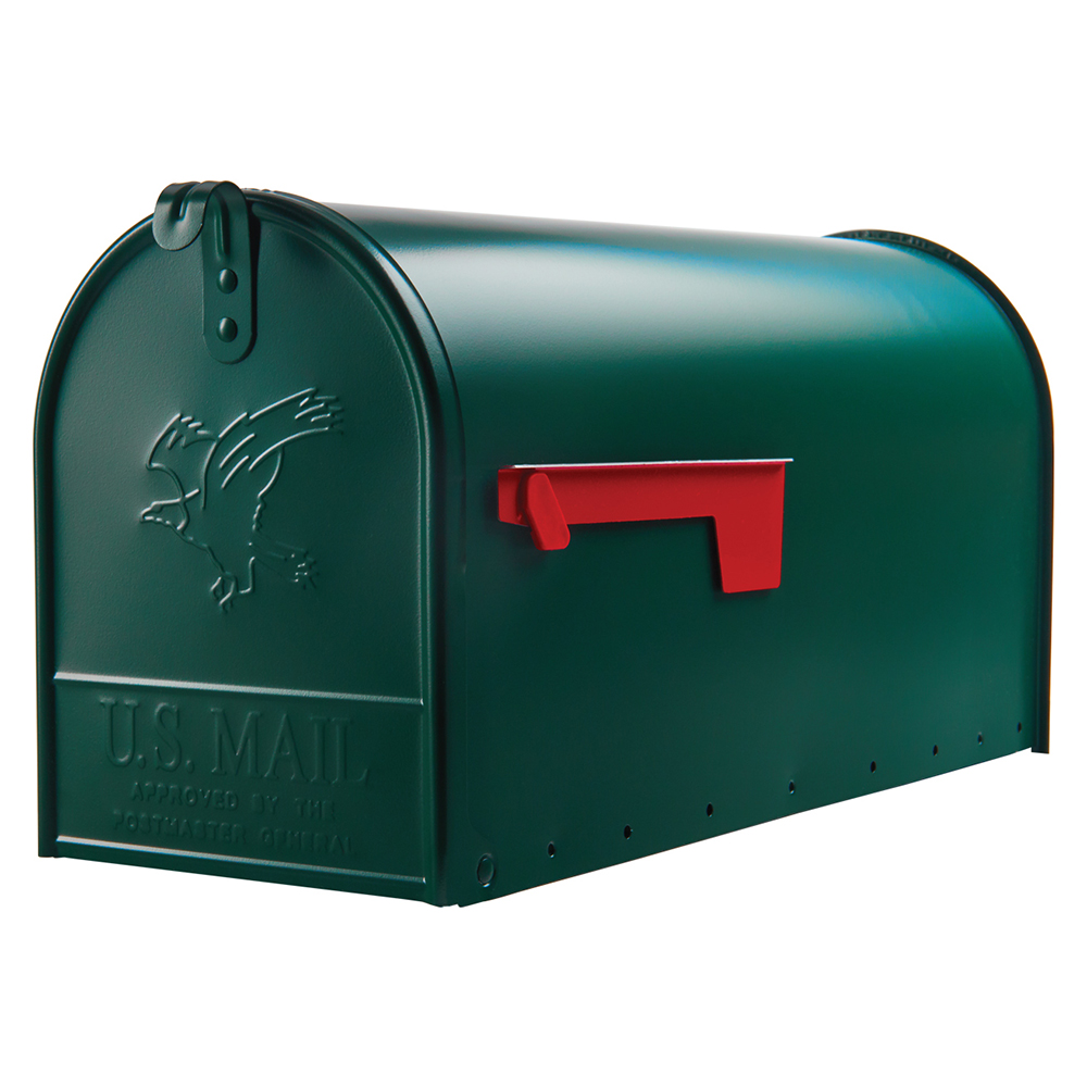Picture of Gibraltar Mailboxes Elite E1600G00 Mailbox, 1475 cu-in Capacity, Galvanized Steel, Powder-Coated, 8.7 in W, Green