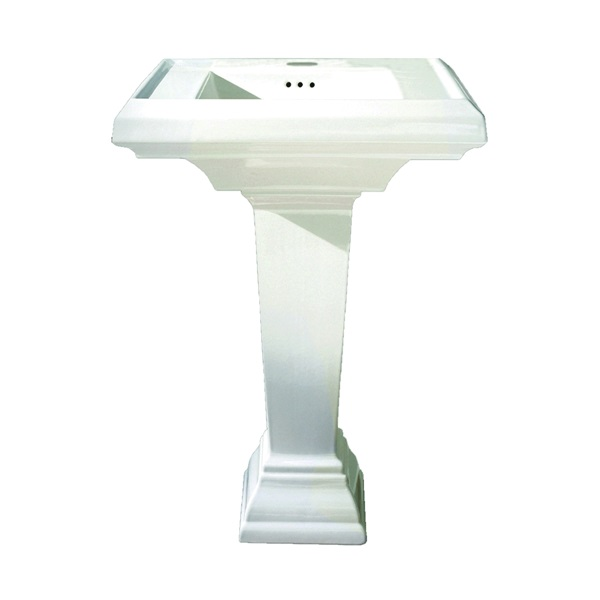 Picture of American Standard Town Square 0031.000.020 Pedestal Leg, 28 in L, 28 in W, 10 in H, Ceramic, White