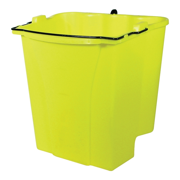 Picture of Rubbermaid 612788YEL Mop Wringer, 28 qt, Plastic Bucket/Pail, Yellow
