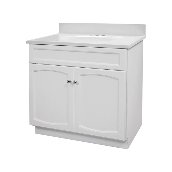 Picture of Foremost Heartland HEW3018 Bathroom Vanity Combo, Plywood, White, Free-Standing Installation, White Sink