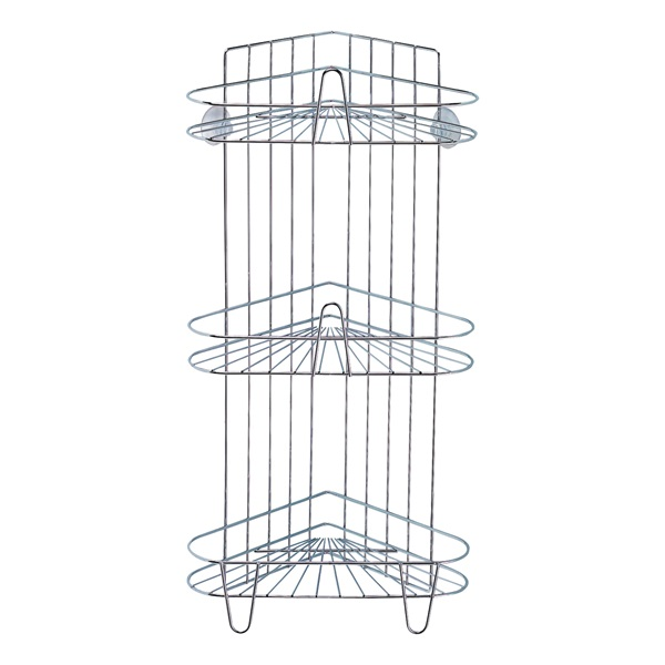 Picture of Simple Spaces SS-SC3-29-CH-3L Shower Caddy, 3-Shelf, Polished Chrome, 11-5/8 in OAW, 23-1/4 in OAH, 8-1/4 in OAD