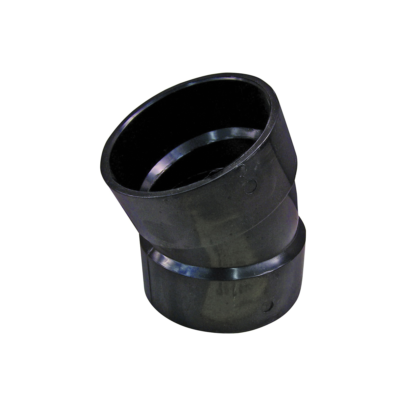 Picture of GENOVA 80830 Pipe Elbow, 3 in, Hub, 22.5 deg Angle, ABS, SCH 40 Schedule
