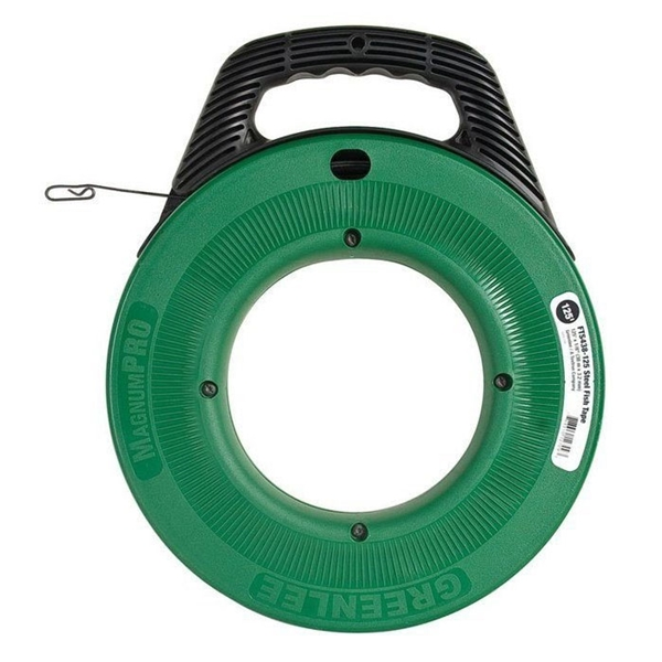 Picture of Greenlee MagnumPRO FTS438-125BP Fish Tape, 1/8 in Tape, 125 ft L Tape, Steel Tape