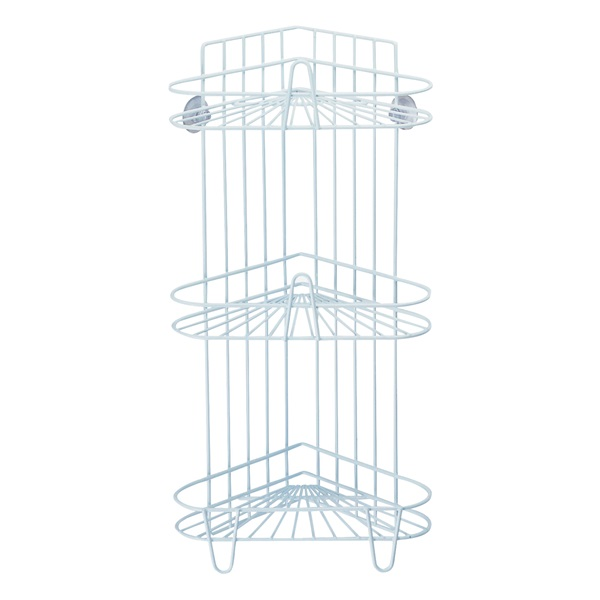 Picture of Simple Spaces SS-SC3-29-PE-3L Shower Caddy, 3-Shelf, 11-5/8 in OAW, 23-1/4 in OAH, 8-1/4 in OAD