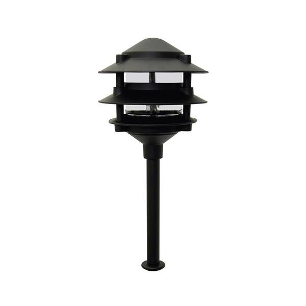 Picture of Moonrays 95725 Path Light, 12 V, 11 W, 1-Lamp, Incandescent Lamp, Aluminum Fixture