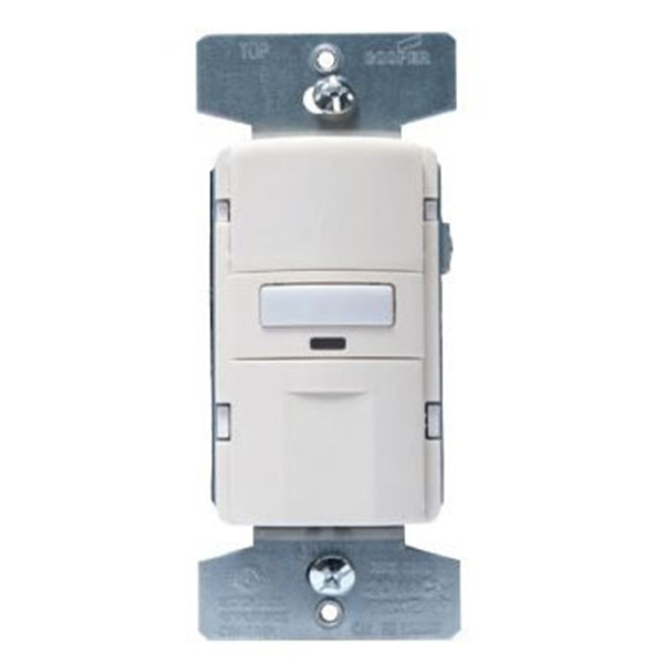 Picture of Eaton Wiring Devices VS310U-V-K Motion Sensor Switch with Nightlight and LED, 8.3 A, 120 V, 1-Pole, Motion Sensor