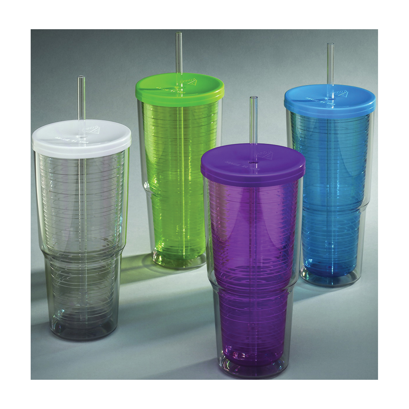 Picture of Arrow Plastic 00015 Travel Tumbler, 24 oz Capacity, Plastic, Insulated, 4, Master Carton