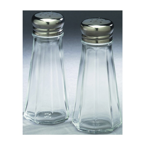 Picture of Arrow Plastic 846 Salt/Pepper Shaker Set, 3 oz Capacity, Glass, Clear