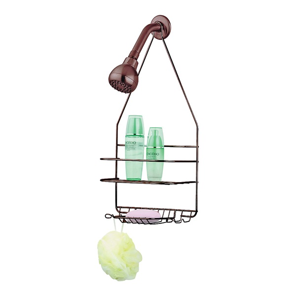 Picture of Simple Spaces SS-SC-25-VB Shower Caddy, Venetian Bronze, 10 in OAW, 19 in OAH, 4-1/4 in OAD