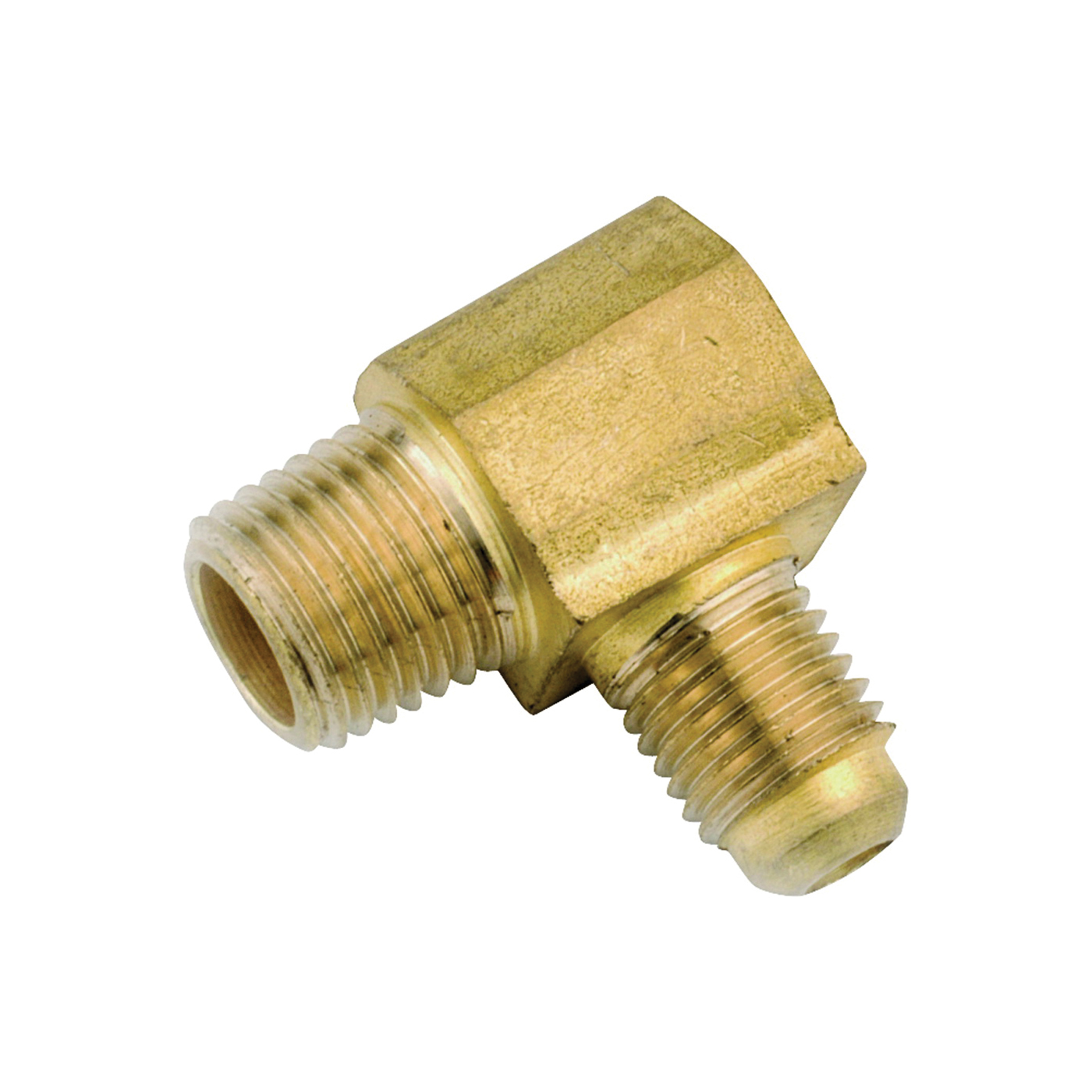 Picture of Anderson Metals 754049-0808 Tube Elbow, 1/2 in, 90 deg Angle, Lead-Free Brass, 750 psi Pressure