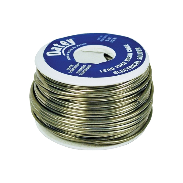 Picture of Oatey 53171 Rosin Core Wire Solder, 1/2 lb Package, Solid, Silver, 450 to 464 deg F Melting Point