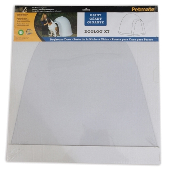 Picture of PETMATE Dogloo XT 29997 Dog House Door, 19 in W, 1/4 in H, Flexible Vinyl, Frosted