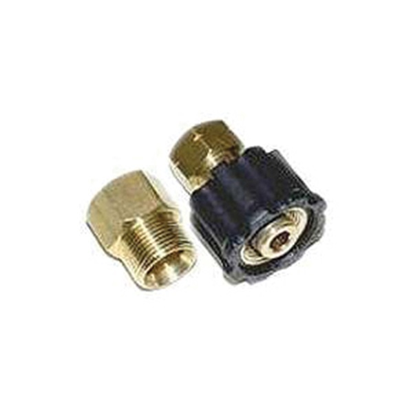Picture of Mi-T-M AW-0017-0007 Quick-Connect Adapter, 3/8 x 3/8 in Connection, Socket x MNPT, Brass