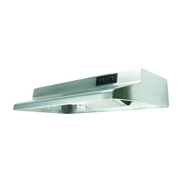 Picture of Air King Advantage AR AR1368 Range Hood, 180 cfm, 2 Fan, 36 in W, 12 in D, 6 in H, Cold Rolled Steel