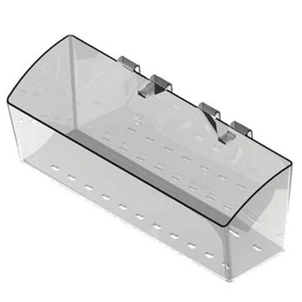 Picture of SOUTHERN IMPERIAL Visi-Bin RPDMP-140405-FR Fastrack and Crossbar Basket, Plastic, 4 in L, 14 in W, 5 in H