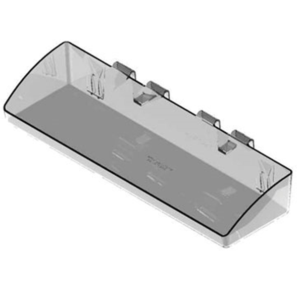 Picture of SOUTHERN IMPERIAL Visi-Bin RPDMP-140425-FR Fastrack and Crossbar Tray, Plastic, 4 in L, 13-1/2 in W, 2-1/2 in H