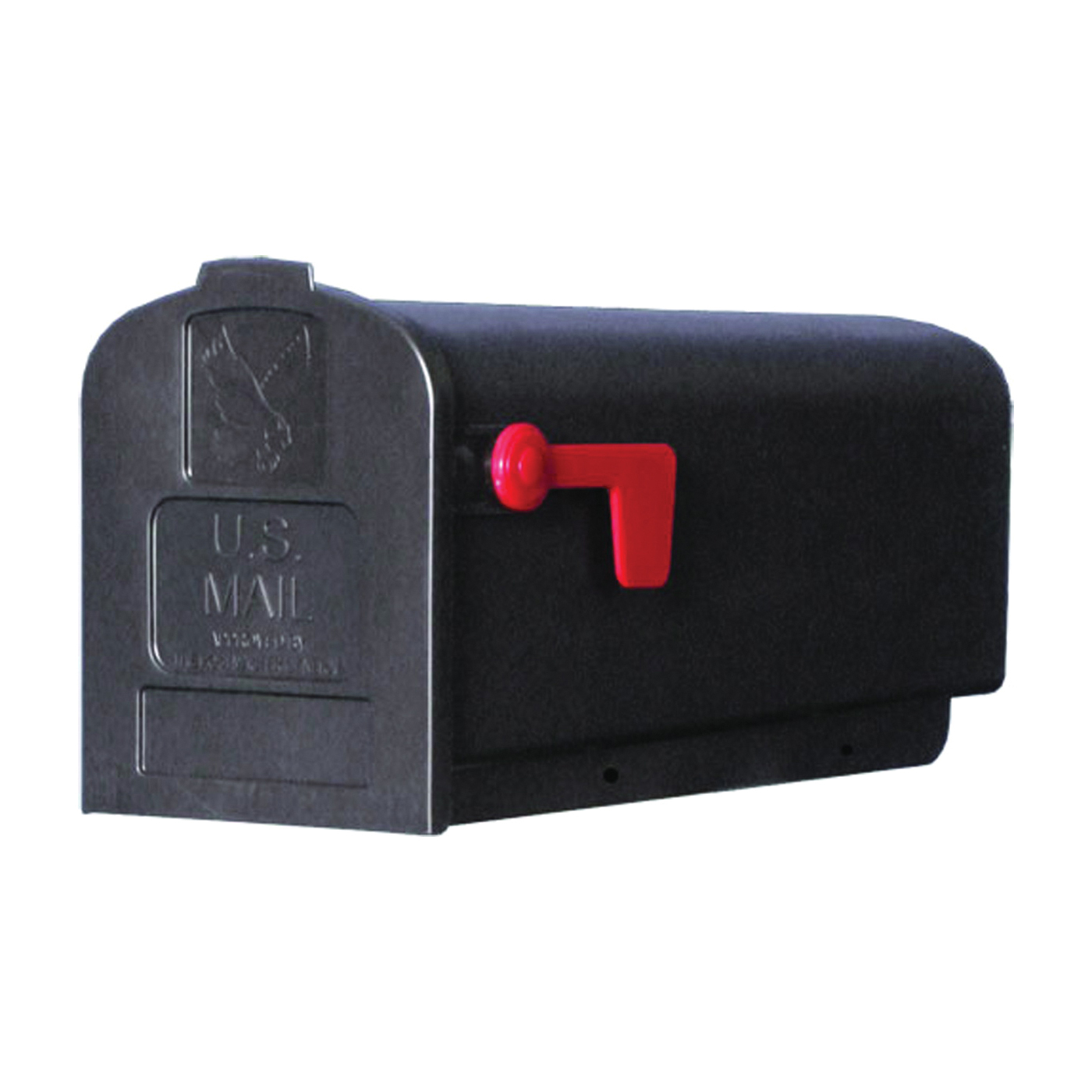 Picture of Gibraltar Mailboxes Parson PL10B0201 Rural Mailbox, 875 cu-in Capacity, Plastic, 7.9 in W, 19.4 in D, 9.6 in H
