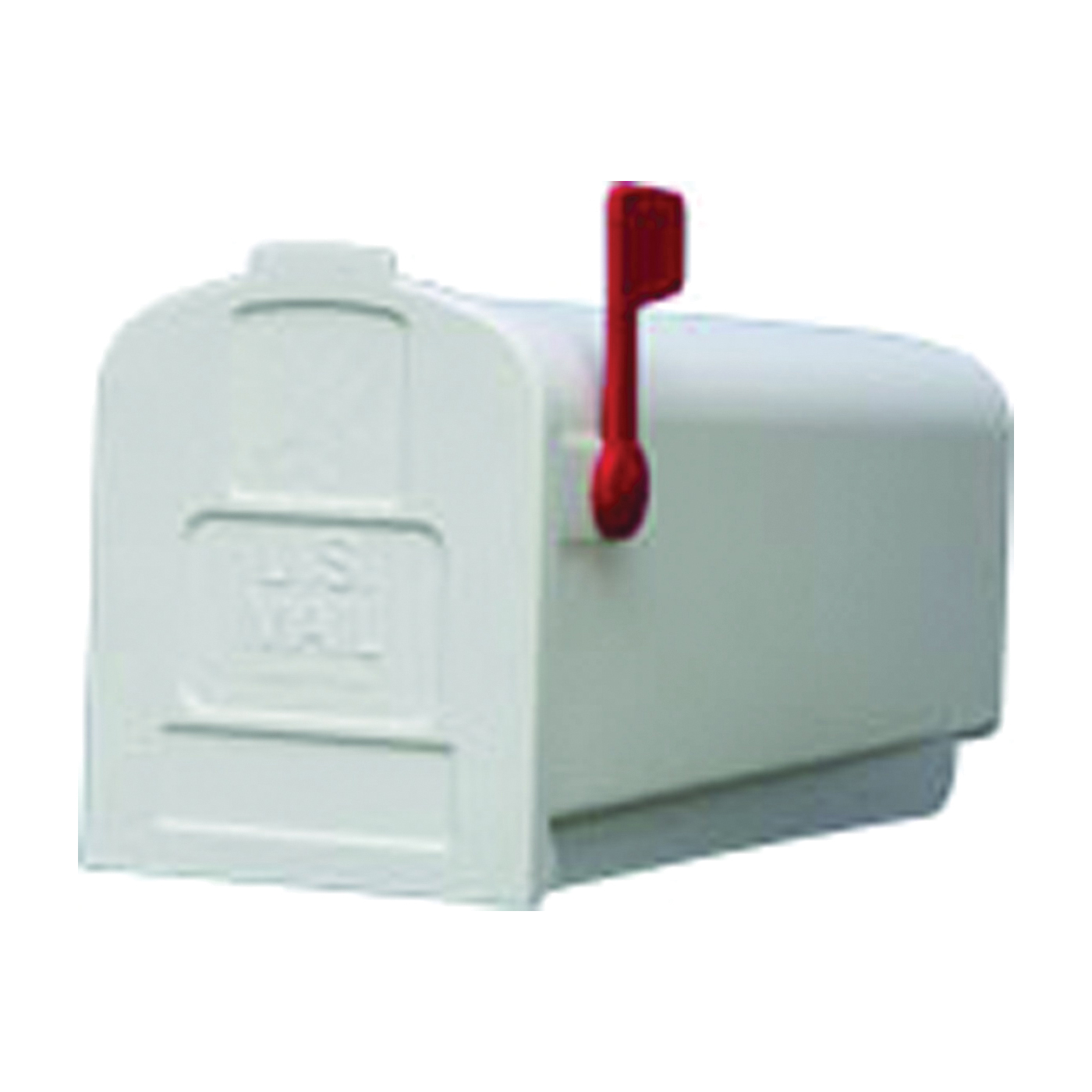 Picture of Gibraltar Mailboxes Parson PL10W0201 Rural Mailbox, 875 cu-in Capacity, Plastic, 7.9 in W, 19.4 in D, 9.6 in H