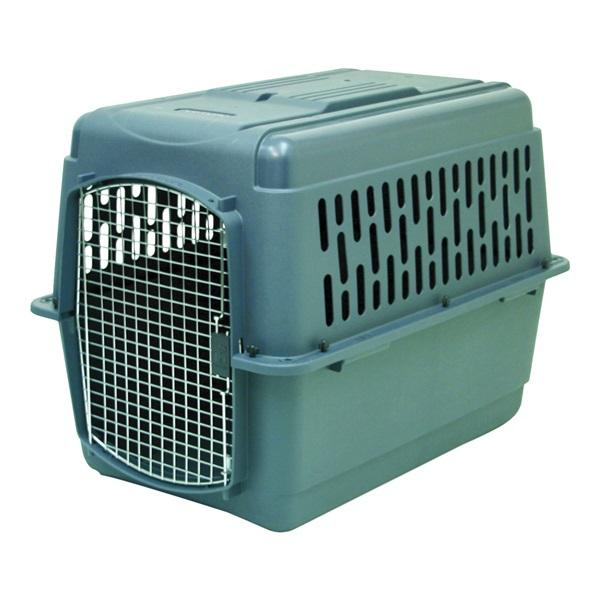 Picture of Aspenpet Pet Porter 21182 Pet Carrier, 32 in W, 22-1/2 in D, 24 in H, Plastic, Black/Dark Gray, Chrome