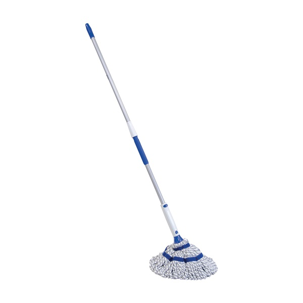 Picture of Quickie 72036M-4 Twist Mop, 54 in L, Microfiber Cloth Mop Head, Steel Handle