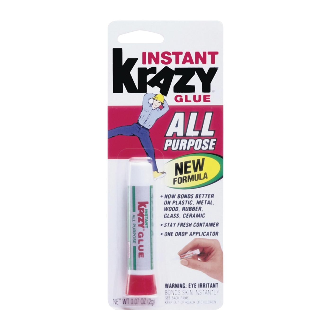 Picture of Krazy Glue KG58548R Super Glue, Liquid, Irritating, Clear, 2 g Package, Tube