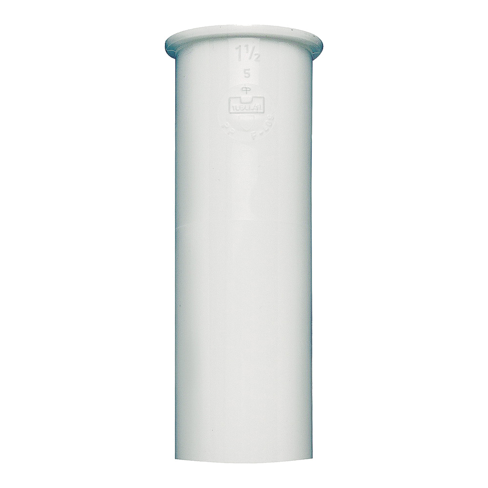 Picture of Plumb Pak PP10-4W Sink Tailpiece, 1-1/2 in, 4 in L, PVC, White