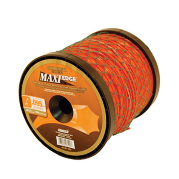 Picture of ARNOLD Maxi Edge WLM-395 Trimmer Line Spool, 0.095 in Dia, 819 ft L, Polymer, Orange