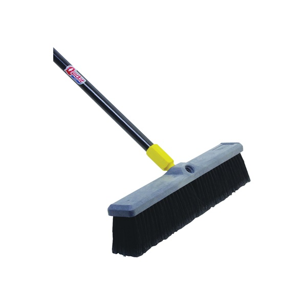 Picture of Quickie 00523 Push Broom, 18 in Sweep Face, Polypropylene Bristle, Steel Handle