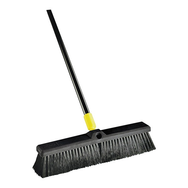 Picture of Quickie 00520 Push Broom, 24 in Sweep Face, Horse Hair Bristle, Steel Handle