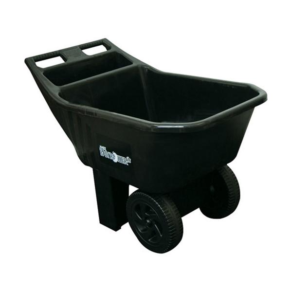 Picture of AMES 2463675 Lawn Cart, 27.98 in L x 11.18 in W x 18.2 in H Deck, Plastic Deck, 2 -Wheel, 11 in Wheel