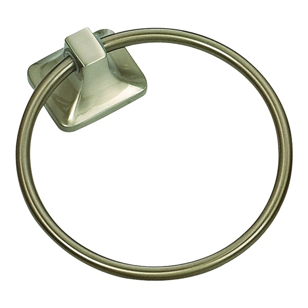 Picture of Boston Harbor 3660-07-SOU Towel Ring, Stainless Steel/Zinc, Brushed Nickel, Screw Mounting