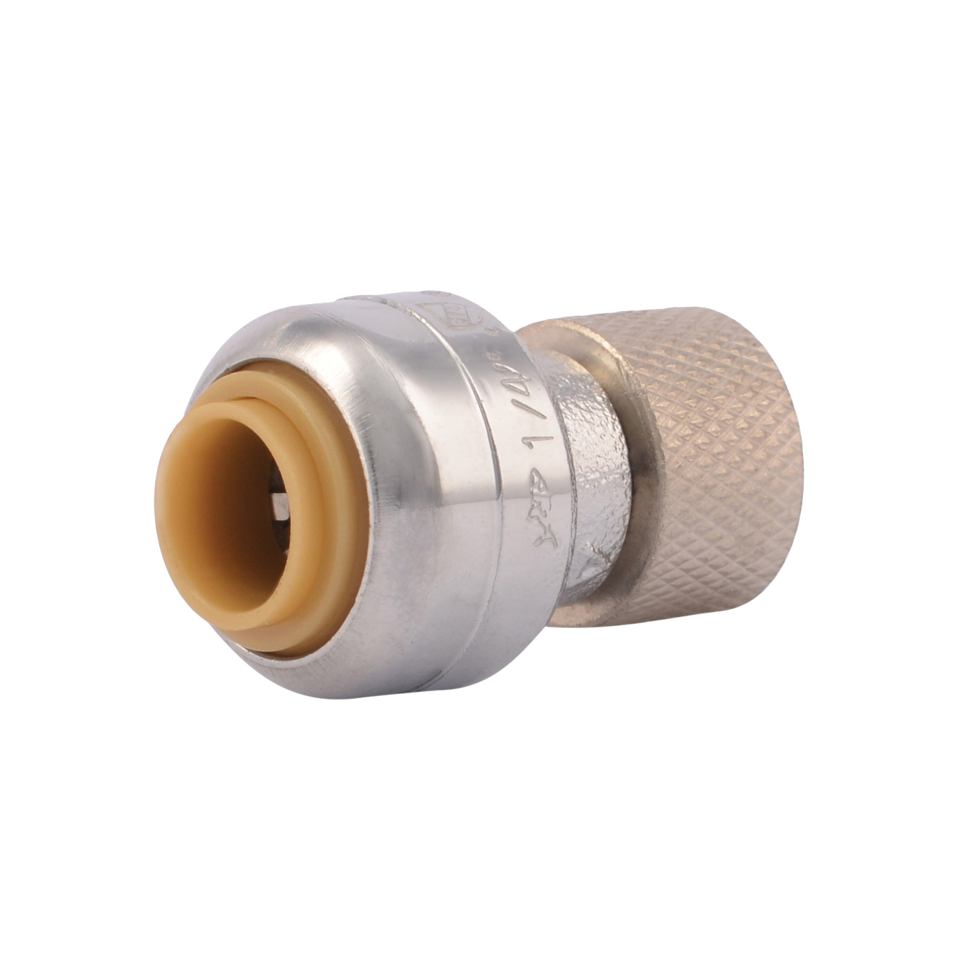 Picture of SharkBite U3523LFA Pipe Connector, 1/4 x 3/8 in, Compression, Brass, 200 psi Pressure